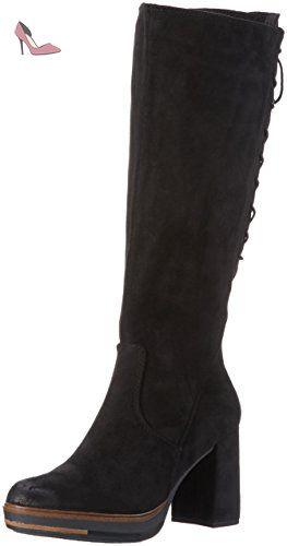 25639, Bottes Classiques Femme, Noir (Black Antic 002), 39 EUMarco Tozzi