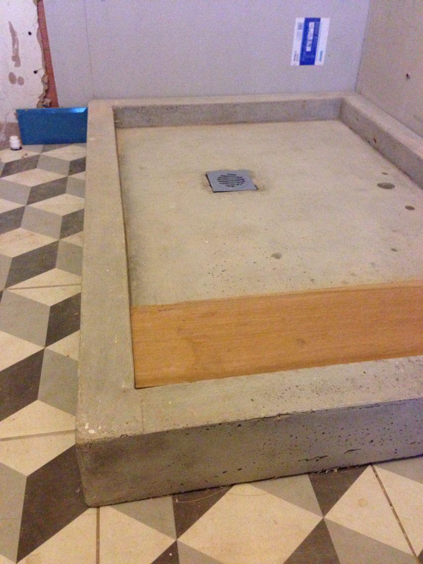 Gfrc shower pan Concrete shower, Concrete shower pan