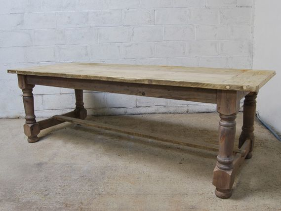 Turned Leg Refectory Table   The Vintage Furniture Company