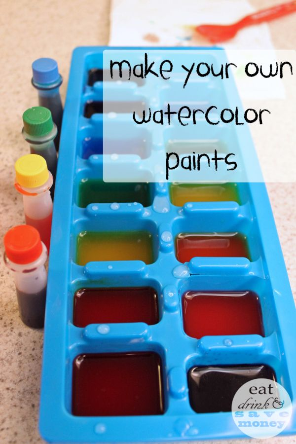 Quick And Easy Diy Watercolor Paint Recipe For Toddlers Homemade