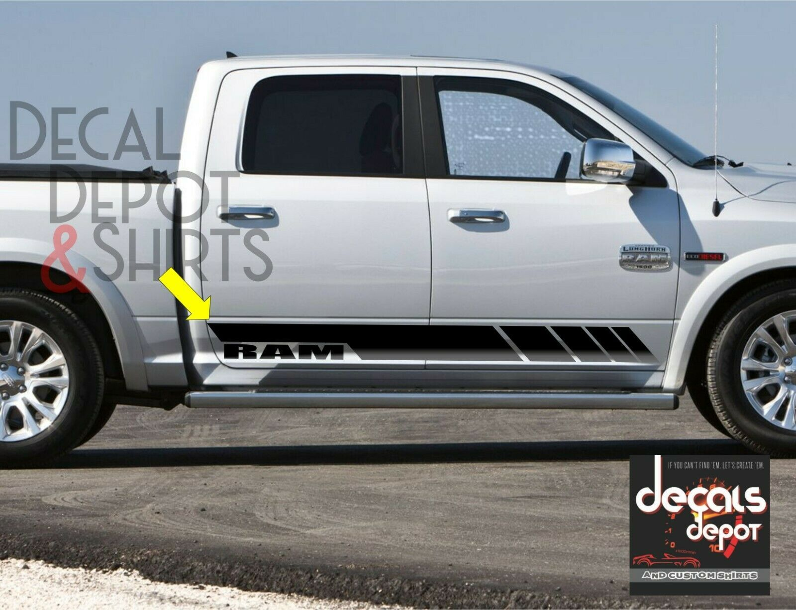 Truck Rocker Decals Custom Sticker