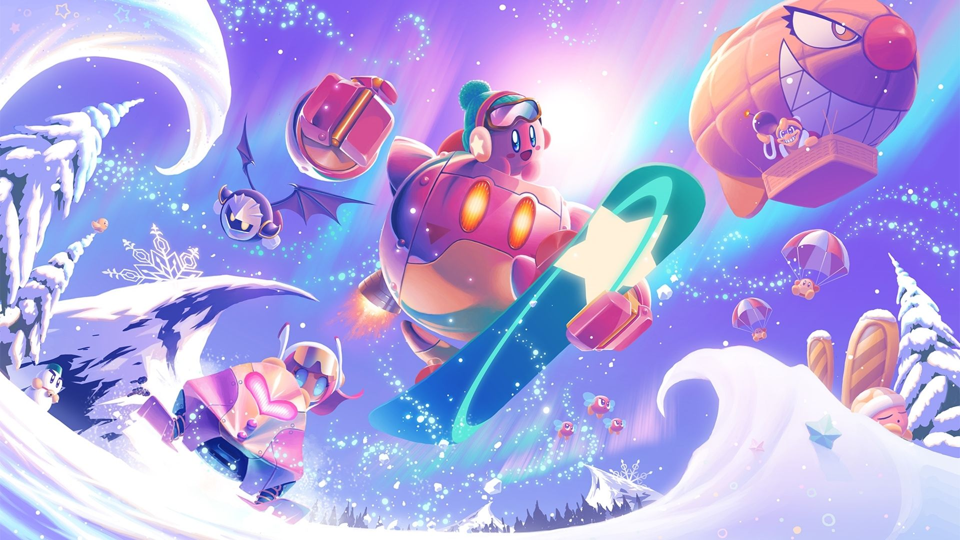 Kirby Video Game Kirby Planet Robobot Wallpaper Kirby Art