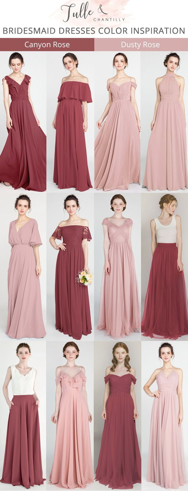 canyon rose and dusty rose bridesmaid dresses for 2019  wedding   weddinginspiration  bridesmaids  bridesmaiddress  bridalparty  maidofhonor   weddingideas ... 714ec962323c