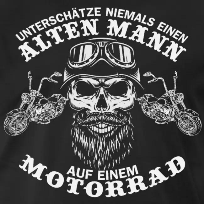 Biker Alter Mann Motorrad Chopper  #oldtshirtsandsuch