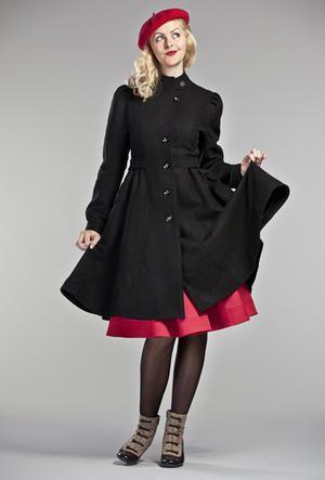 b6d138754f Cappottino nero Retrò Style ideale per abiti con le mitiche ...