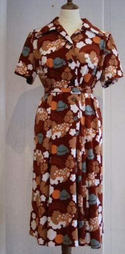 Retro mnstret kjole Polyester vaskes for hnd br 90 liv 80 hofter 90