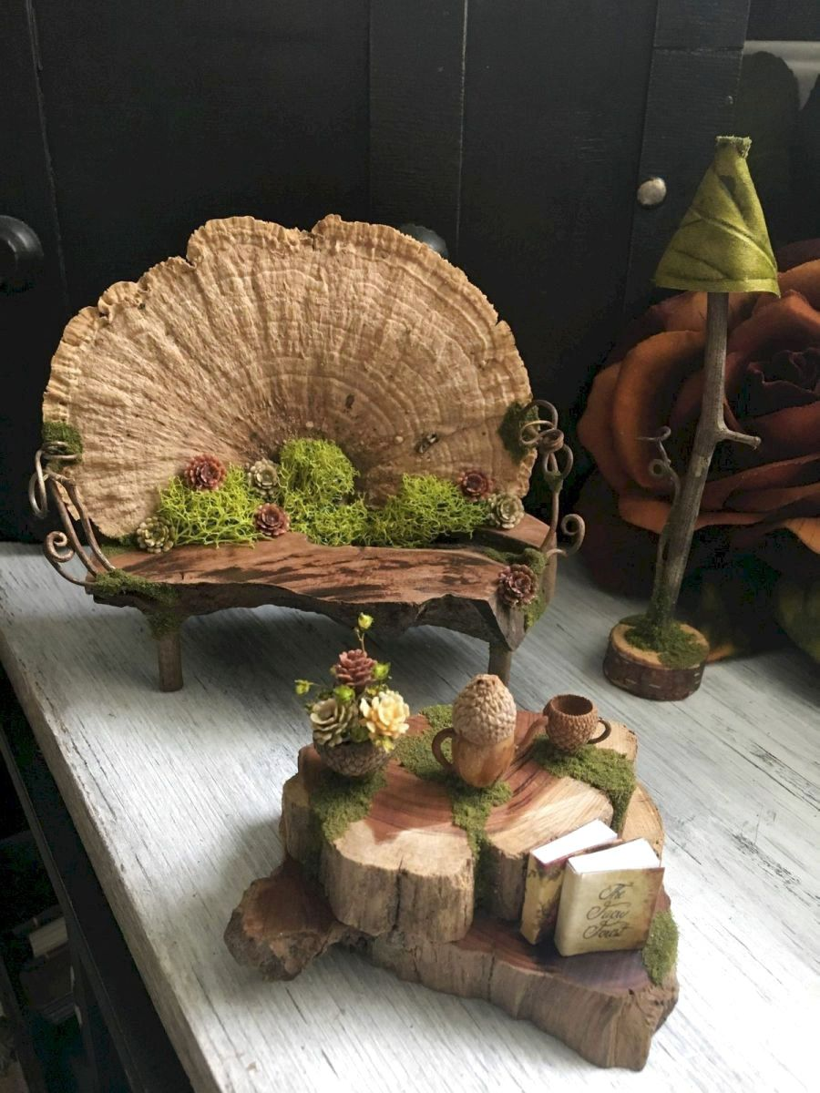 40 Favourite Indoor Fairy Garden Ideas - Fairy garden designs, Fairy garden furniture, Fairy garden diy, Indoor fairy gardens, Miniature fairy gardens, Fairy furniture - There are many creatures and outdoor plants to make children interested in playing in nature  The next time you get out on the page, you might want to try some mystical creatures with your own garden fairy  Usually includes several… Continue Reading →