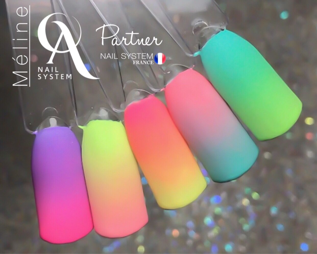 Ombre Nails Fluo Blue Ombre Nails Pink Ombre Nails Orange Nails