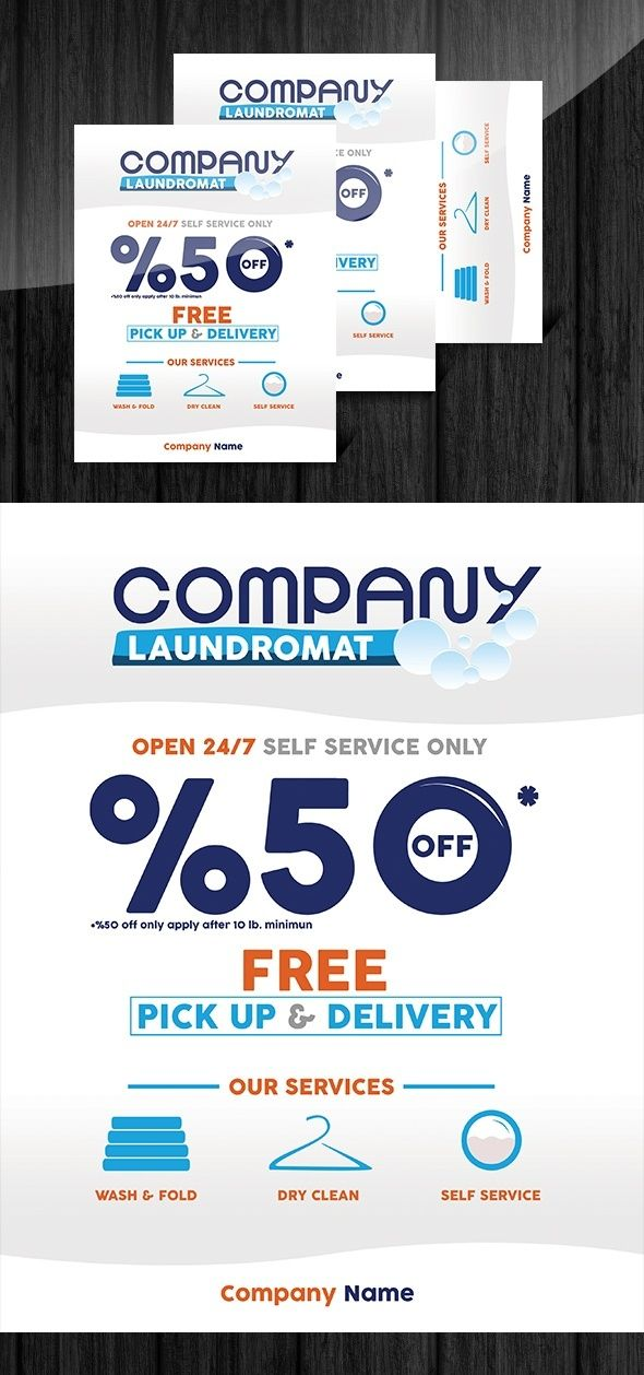 Laundry Flyer Design Psd