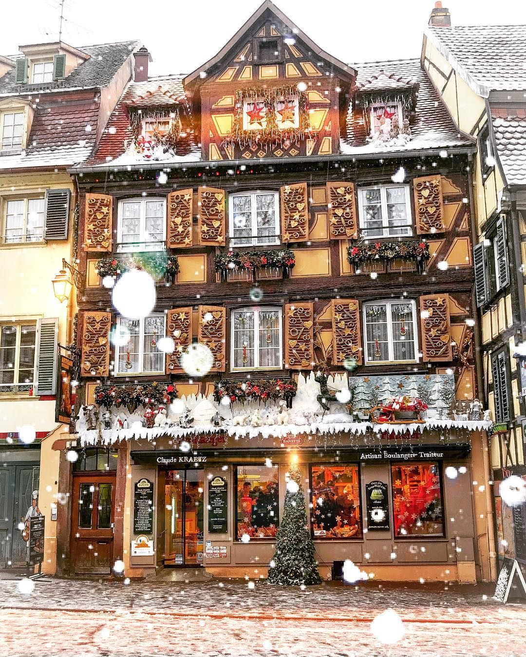 alsace beautiful villages at christmas