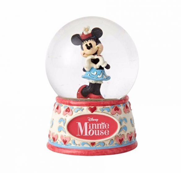 Mickey /& Minnie Mouse Waterball Disney Traditions Under The Mistletoe