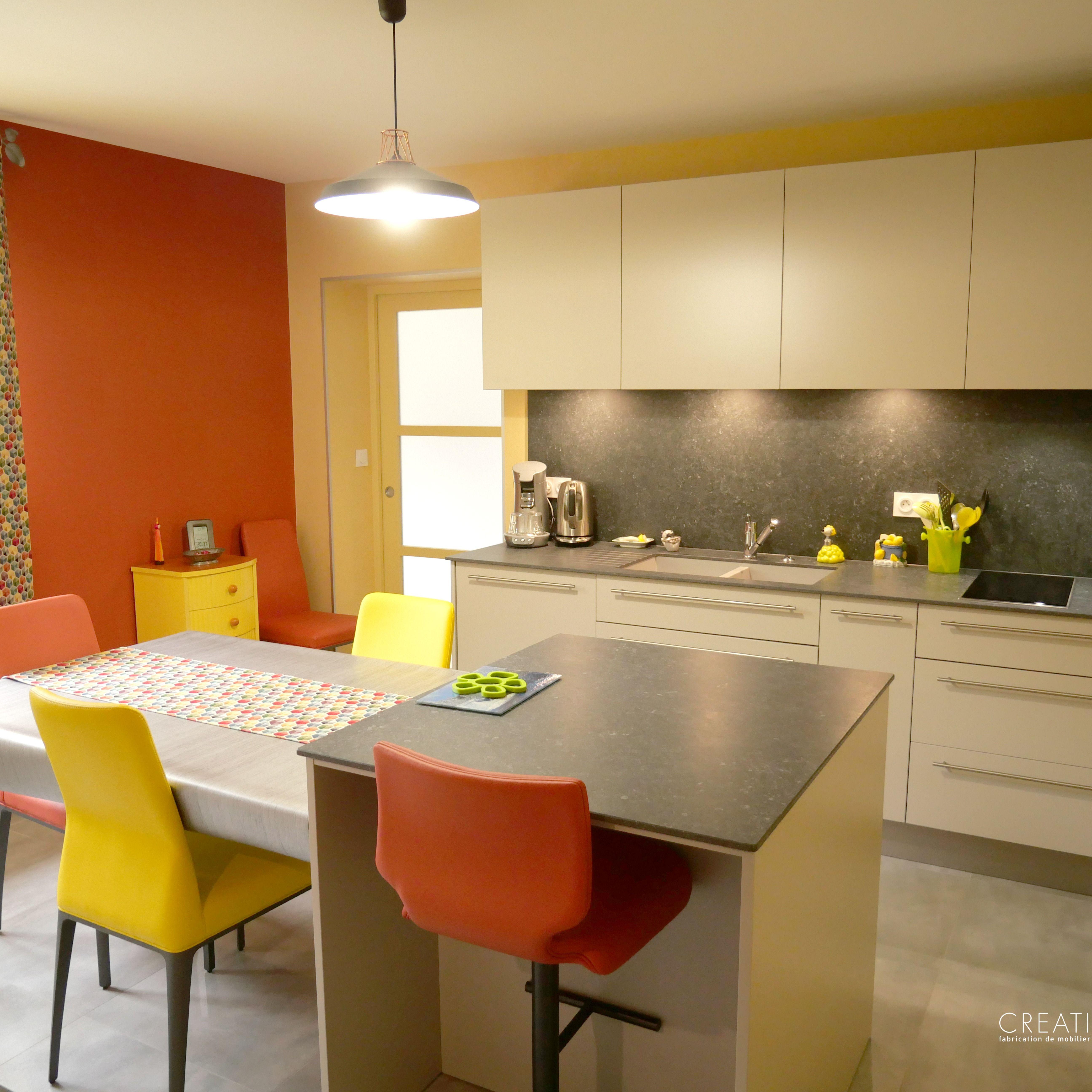 Découvrez cette nouvelle cuisine sur-mesure ! #creativmobilier