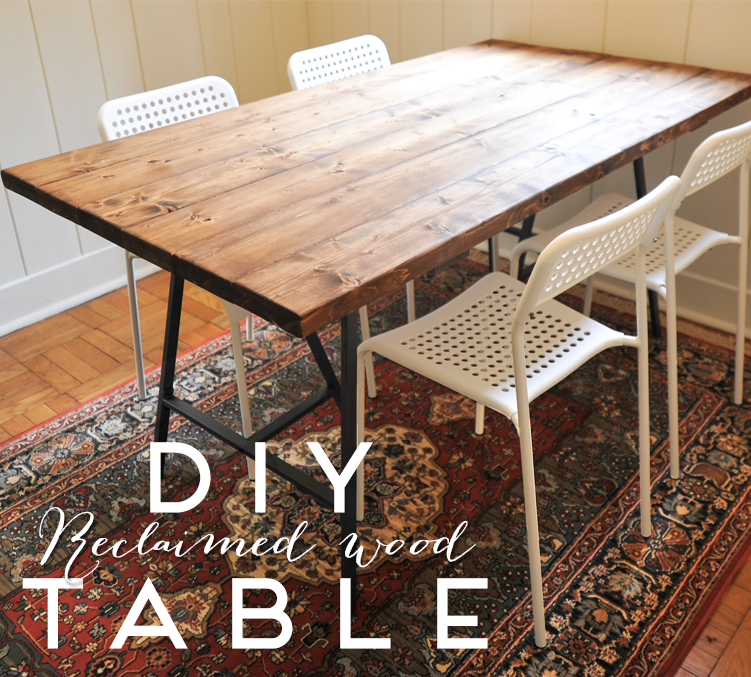 a new bloom: DIY Reclaimed Wood Dining Table - A New Bloom: DIY Reclaimed Wood Dining Table Dining Room