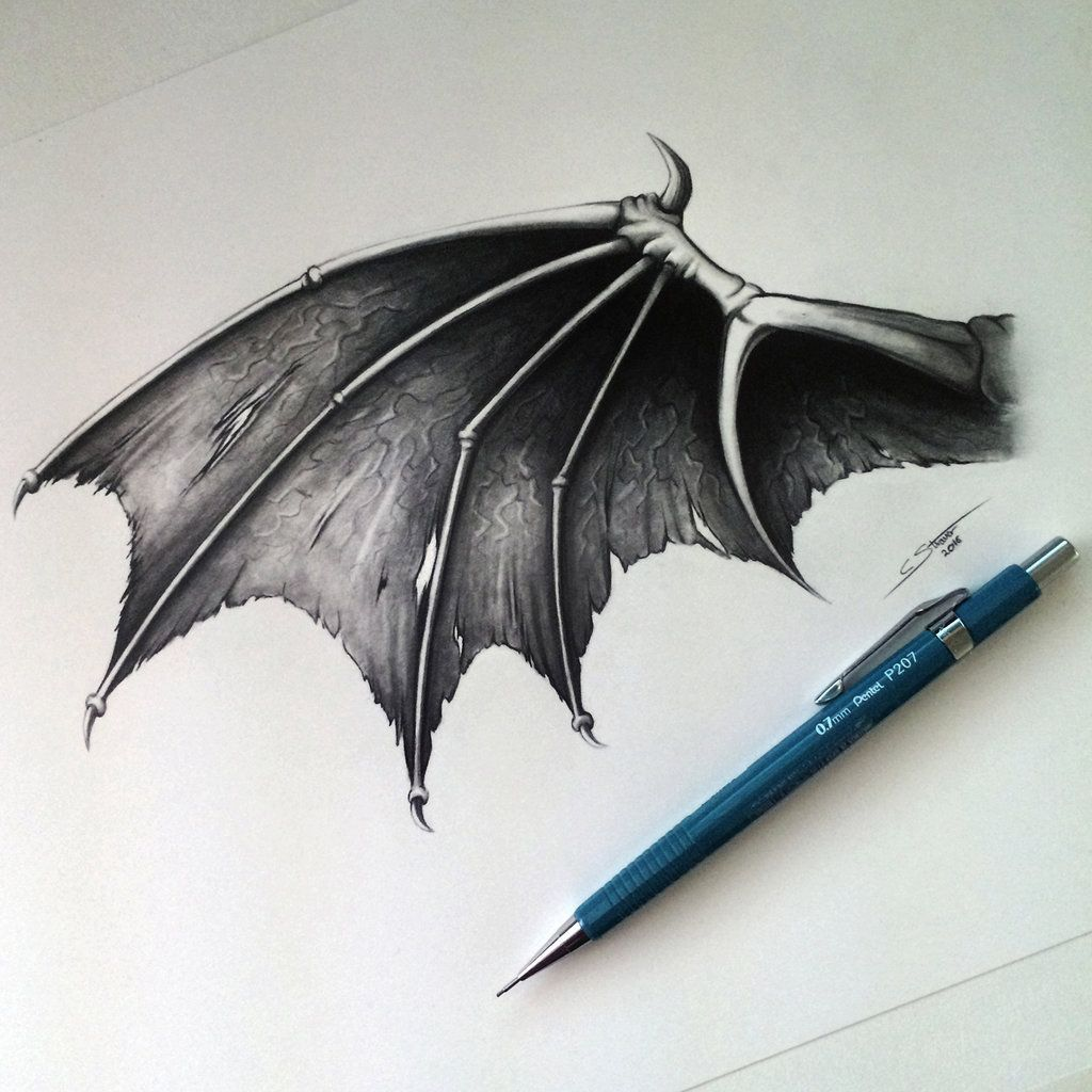 Demon/Dragon Wing Drawing | Wings | Pinterest | Ideas de tatuajes ...
