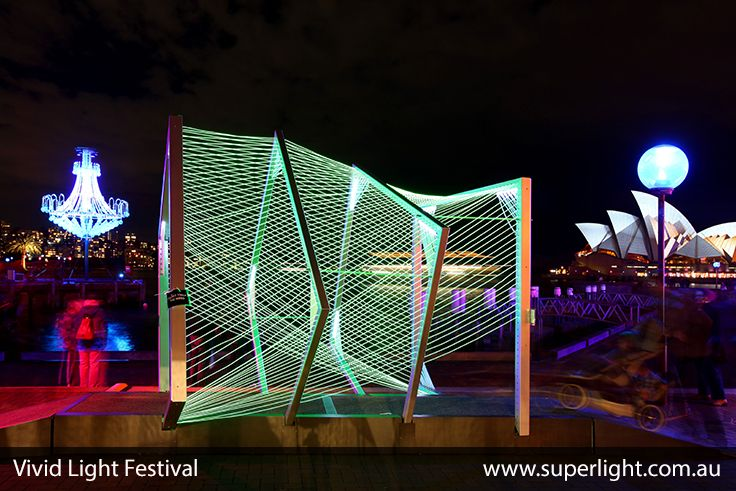 Wonderful Led Constructions At The Vivid Light Festival In Sydney Www Superlight Com Au Led Lights Design Lighting Suppliers Light Sculpture Backdrops