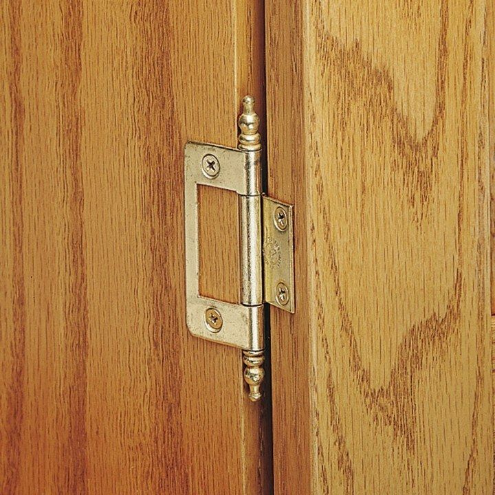 Non Mortise Hinges With Finial Mortising Cabinet Doors Woodworking