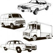 1960 retro classic cars set of 4 vintage cars – Stock Vector , #Sponsored, #clas…