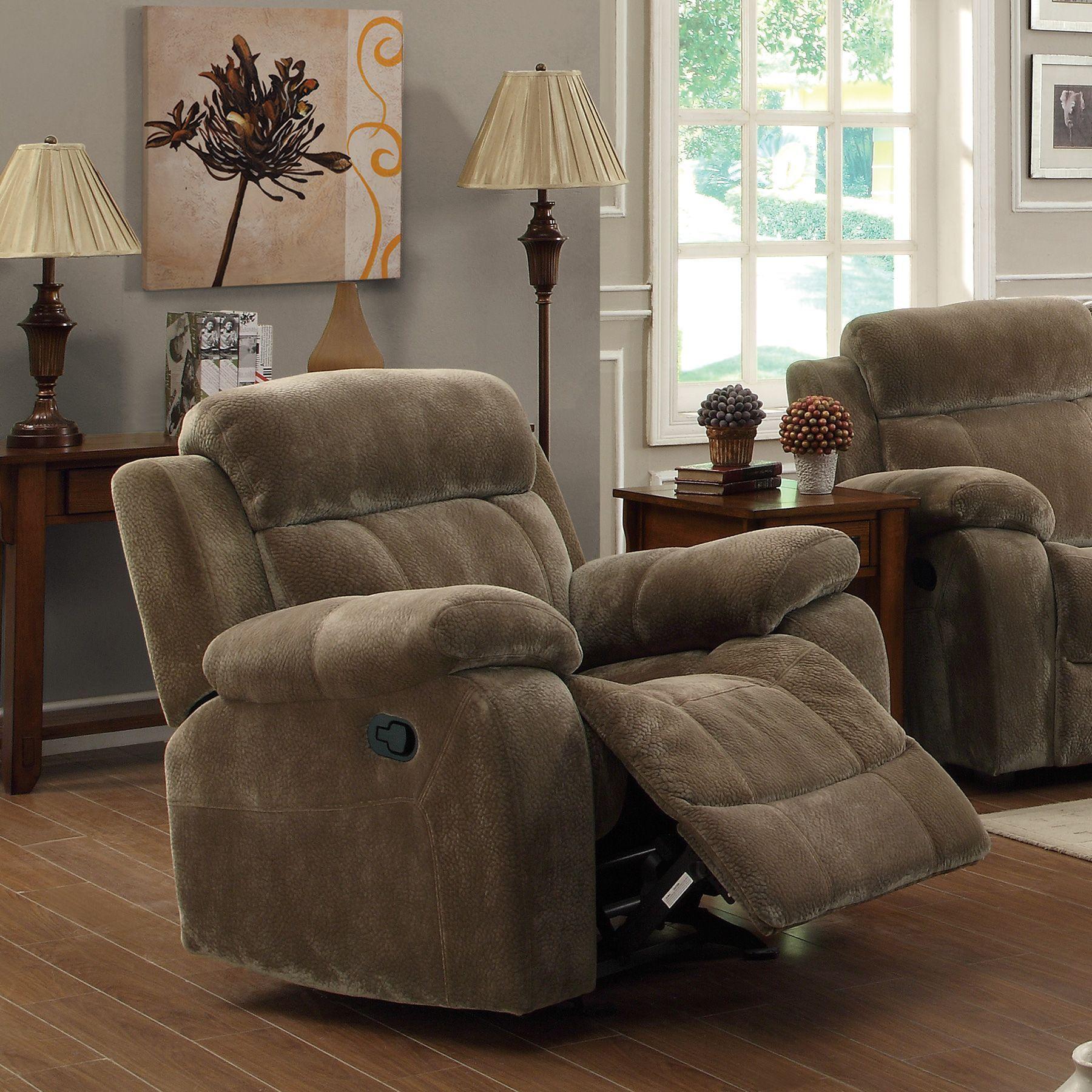 Sensational Fingerhut Coaster Myleene Glider Recliner W Pillow Arms Andrewgaddart Wooden Chair Designs For Living Room Andrewgaddartcom