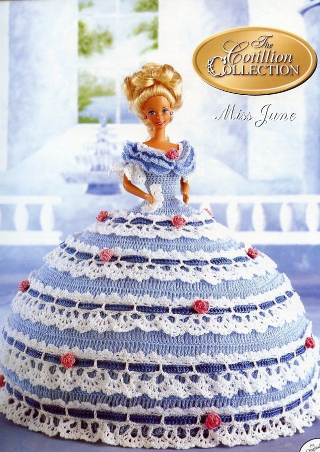Miss June 1992 Cotillion Barbie Doll Outfit Crochet Pattern Instructions Leaflet