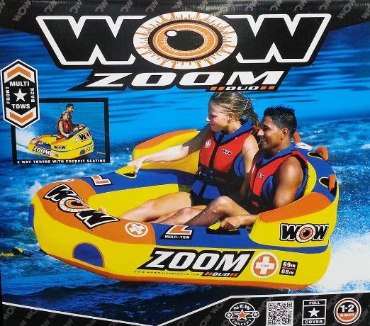 Wow Zoom Duo Multi Tows Back Or Front Towable Tube Model 13 1000 Towable Tubes Towing Inflatable Rafts