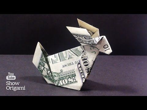 Origami Of Money How To Make A Rabbit Out Of The Dollar Youtube