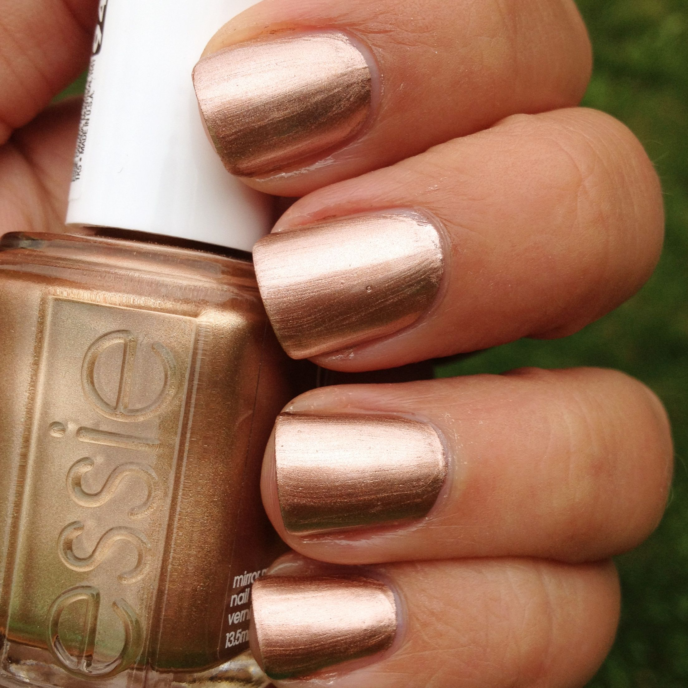 Essie Penny Talk Swatch And Review | White nail polish, Essie nail ...