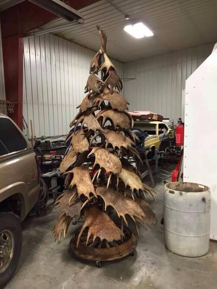Custom Made Moose Antler Christmas Tree - Made by my husband!!!