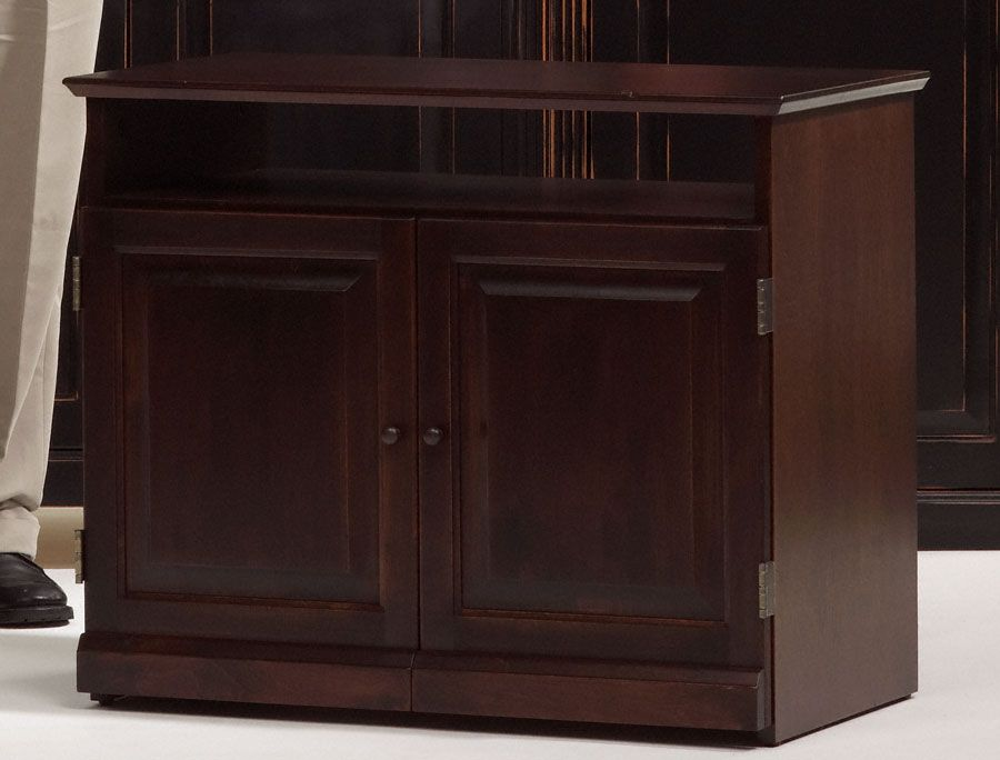 2 Coats Of Java Gel From General Finishes On Unfinished Furniture TV Stand.  General Finishes