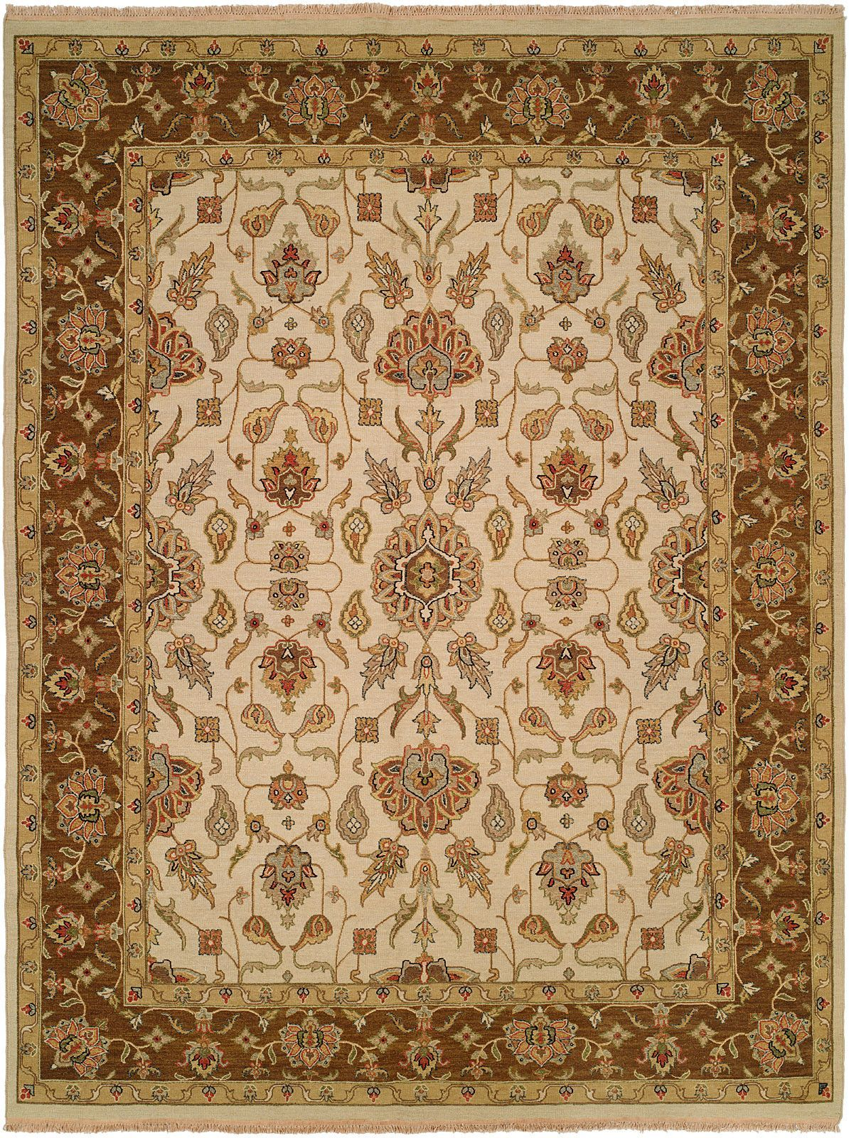 Townsville Hand-Woven Ivory/Brown Area Rug
