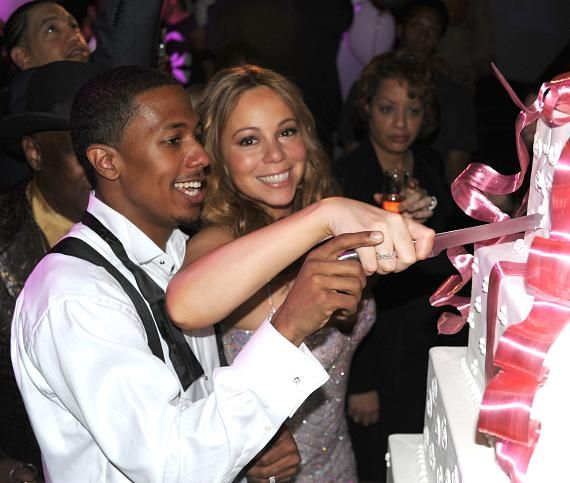 Mariah Carey and Nick Cannon's 1 year anniversary.