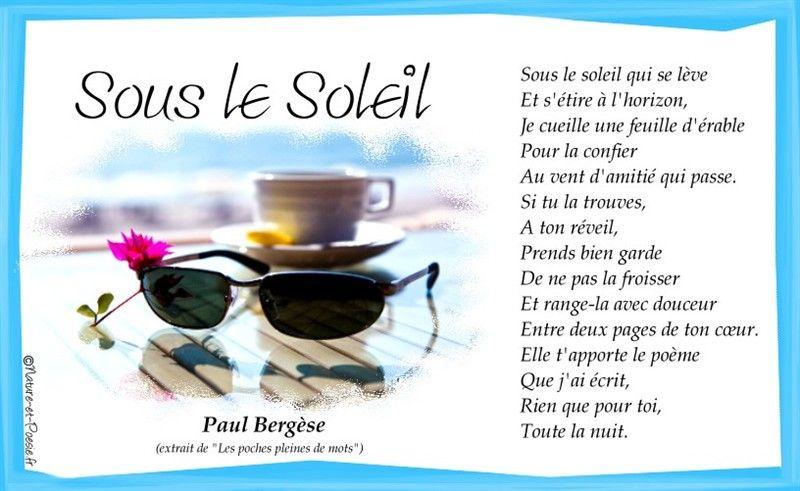 Sous Le Soleilpaul Bergèse Froissé Réveil Et Prevert