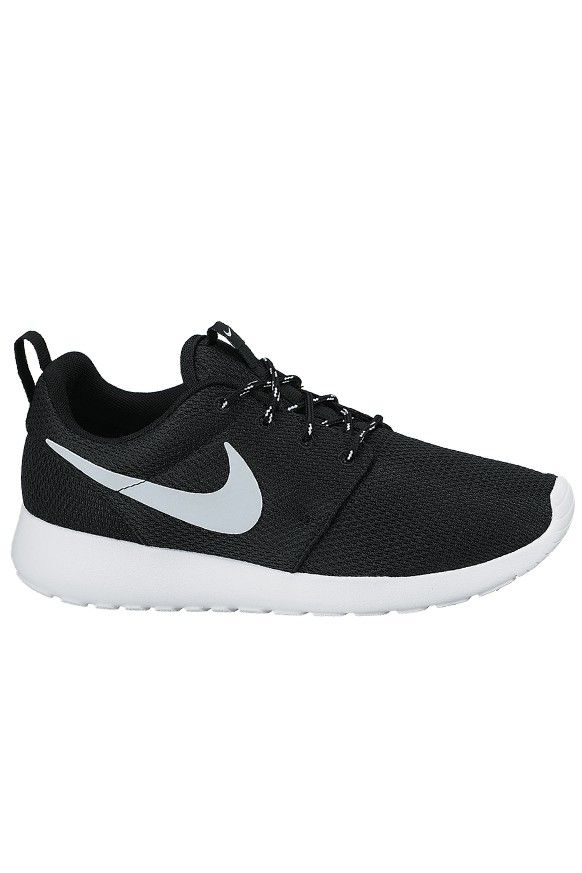 newest 2925b 22908 Nike Roshe One - Black   Metallic   Platinum White.  100 on stylerunner.com