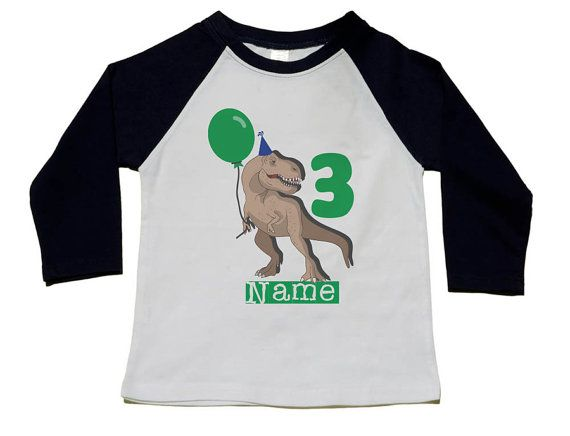 Dinosaur Birthday Shirt 3rd T Use Your
