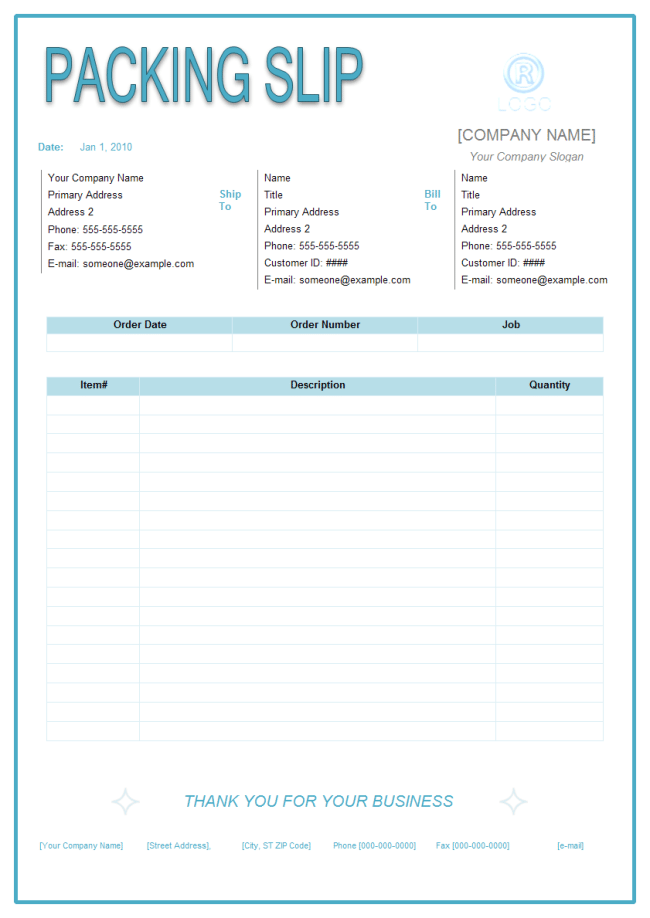 Packing Slip Template 1 Packing Slip Resume Template Free Quotation Format