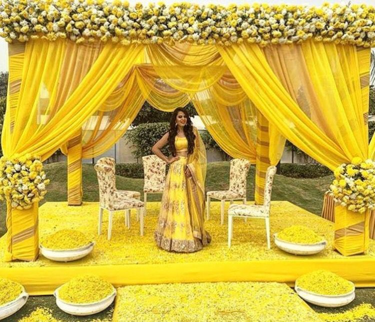 The Wedding Brigade Yellow Fever Haldi Function Summer