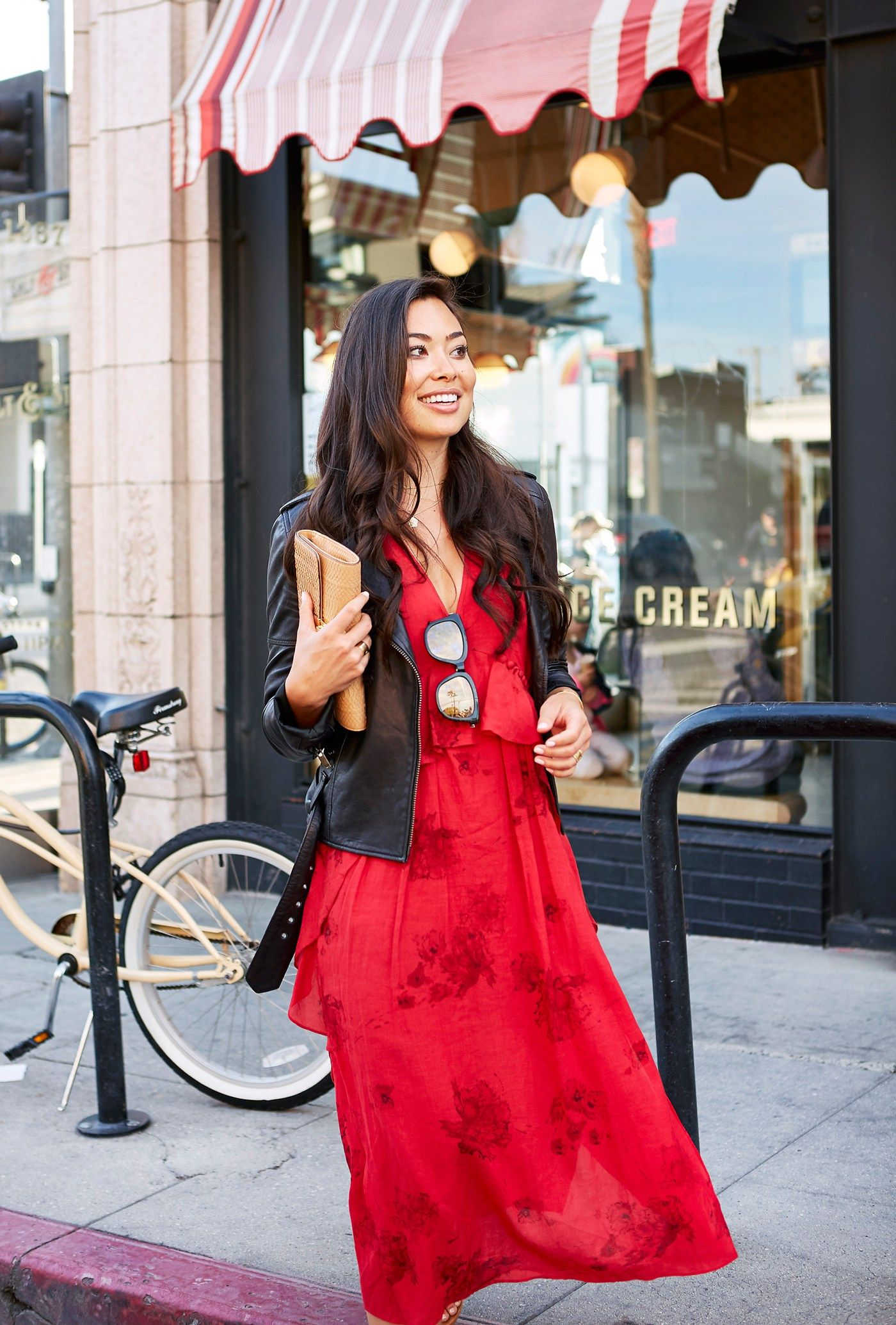 Red Dress for Date Night With Love From Kat Red outfit