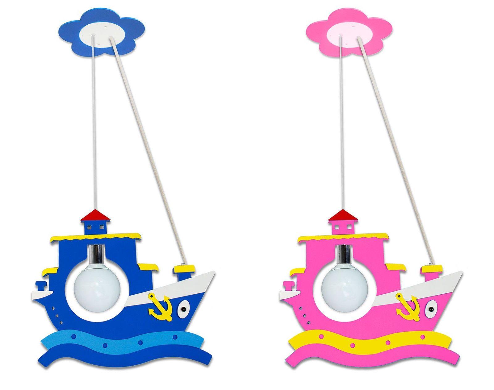 Lampadari Per Stanza Ragazzi lampadario sospensione barca per cameretta bambini in legno