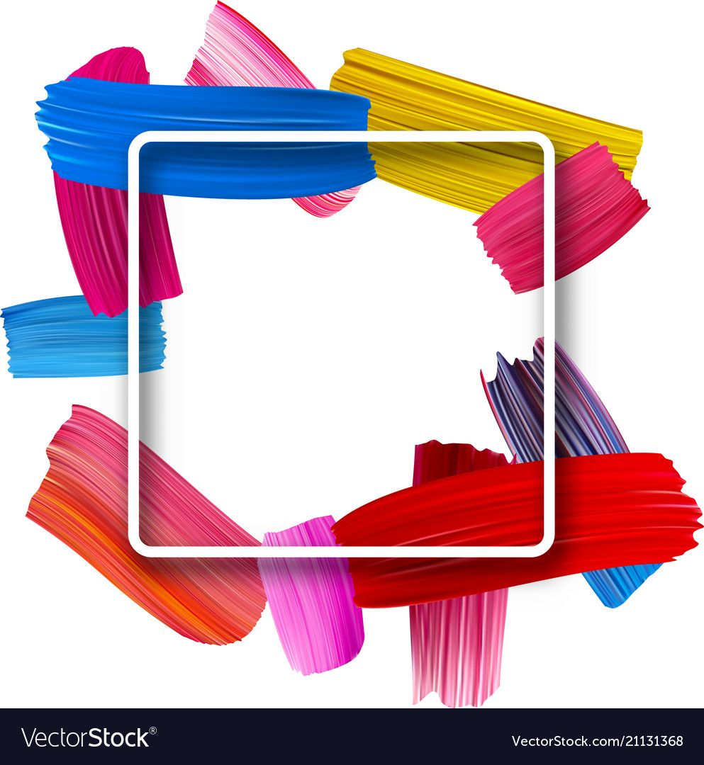 Background with colorful watercolor brush strokes Vector