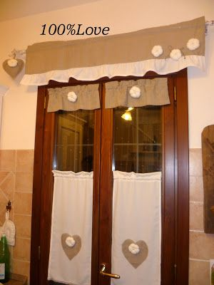 Tenda Cucina Country | tende | Curtains, Burlap curtains e Drapery