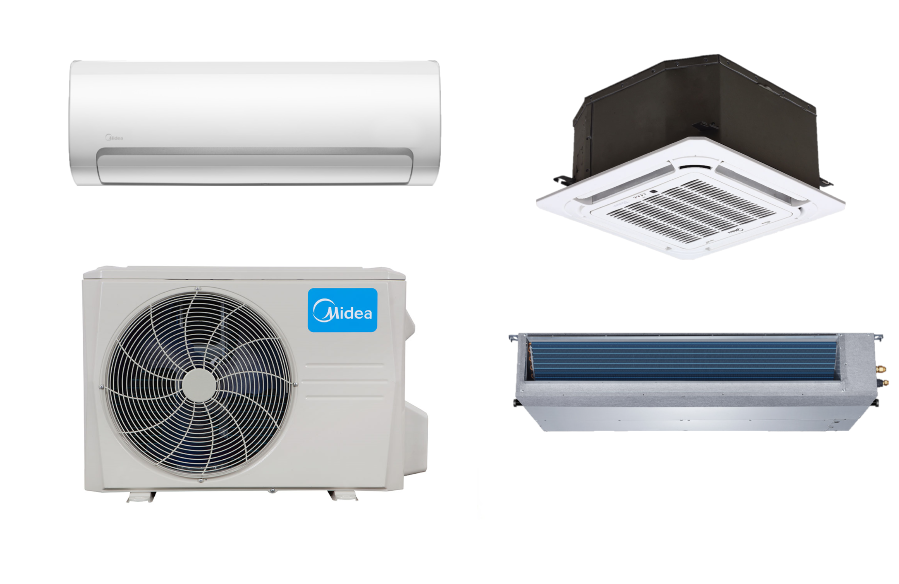 Midea 9000 Btu 24 7 Seer Ductless Mini Split Hyper Heat Pump Ac Heat Pump Air Conditioner Ductless Mini Split Heat Pump