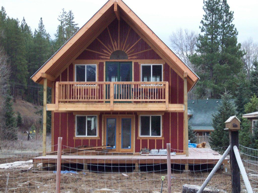 Cabins cottages barns on pinterest split rail fence for Barn house plans kits