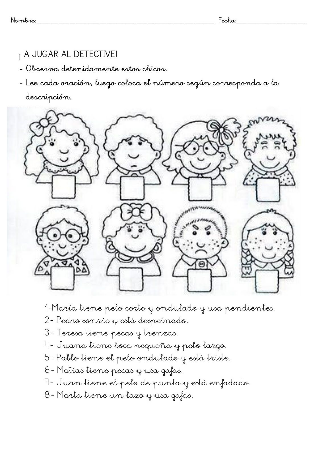 A Jugar Al Detective Not Using This Worksheet But Could Definitely Make Another One For This