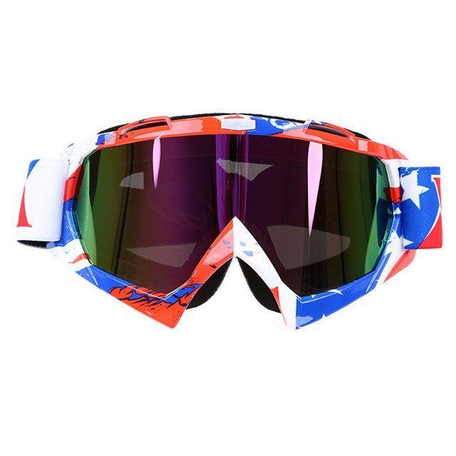 b91d7373ca8 oculos Motocross Goggles Ski Snow Skate Glasses Helmet MX Mask Eyewears Sun  Glasses Collapsible For Motorcycle