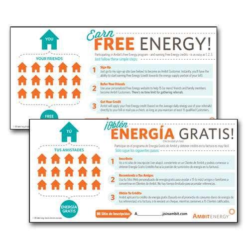 Ambit Energy - Ambit Energy Free Energy English/Spanish Slip, 40/pkg ...