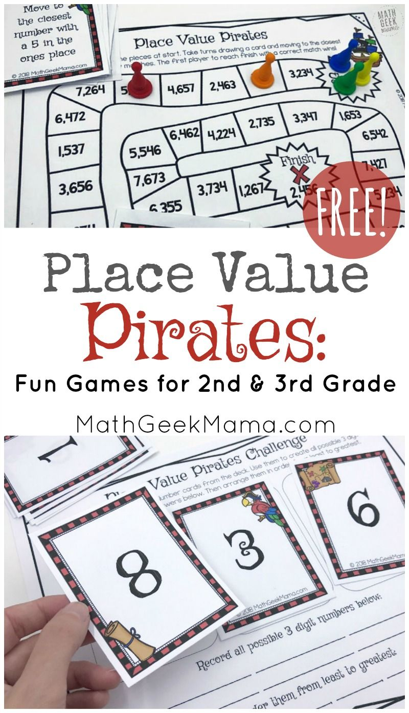 Place Value Pirates Free Printable Math Game Easy Math Games Printable Math Games Math Board Games [ 1394 x 800 Pixel ]