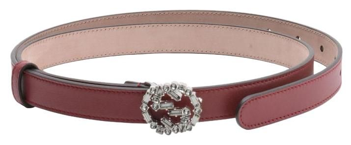 5eebc7e32f8 Free shipping and guaranteed authenticity on Gucci Women s Leather Belt  Interlocking G 354380 APOIN 6263 Bordeaux Sz 38 at Tradesy.