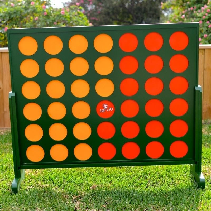 Wooden Indoor Outdoor Giant Connect Four In A Row Game Set