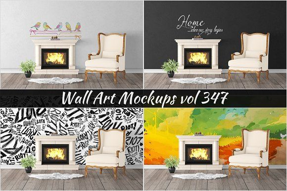 Wall Mockup - Sticker Mockup Vol 347 by Creative Interiors on @Graphicsauthor