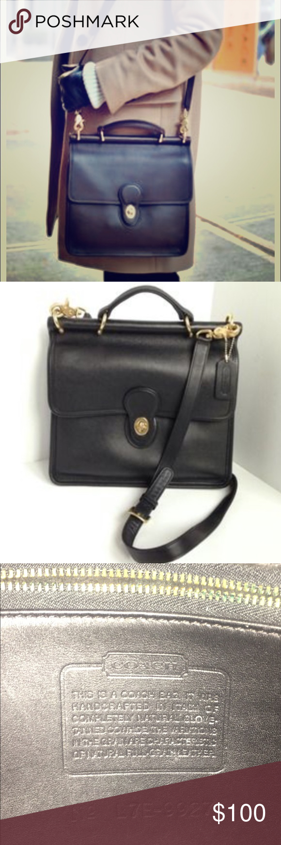 Spotted while shopping on Poshmark  Vintage Coach Willis Black Leather Bag!   poshmark  fashion  shopping  style  Coach  Handbags 1b61cd5ae0