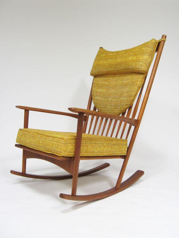 cheaper f8736 2ff7b Hans Olsen; Rocking Chair for Brdr Juul Kristensen, 1960s ...